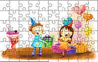 Пазл детский Веселый День рождения 180х270 мм