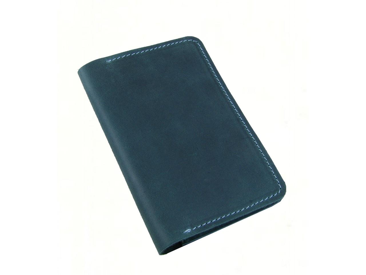 Обложка для паспорта GS кожаная зеленая