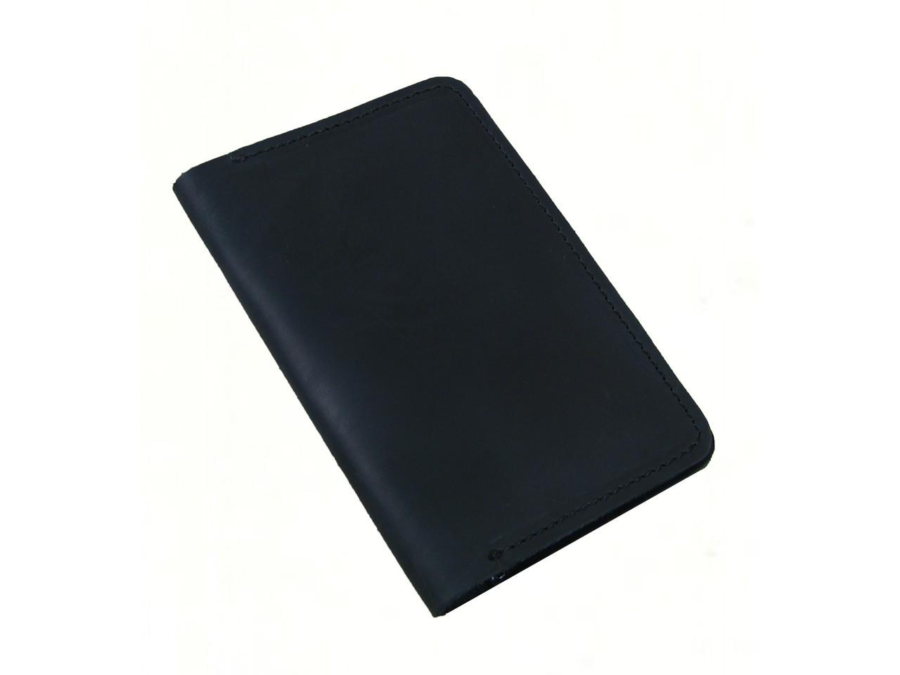 Обложка для паспорта GS кожаная черная