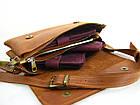 Женская кожаная сумка - клачт GS рыжая, фото 2