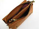 Женская кожаная сумка - клачт GS рыжая, фото 4