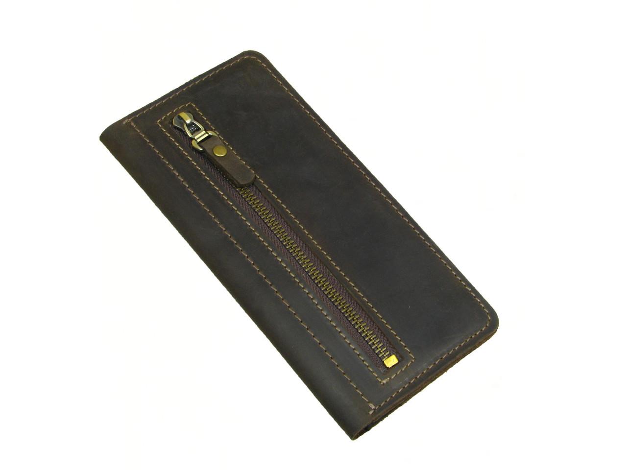 Женский кошелек купюрник GS коричневый