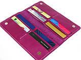 Женский кожаный кошелек купюрник GS розовый, фото 2