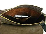 Мужская повседневная сумка GS кожаная  коричневая, фото 4