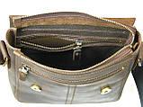 Мужская повседневная сумка GS кожаная  коричневая, фото 5
