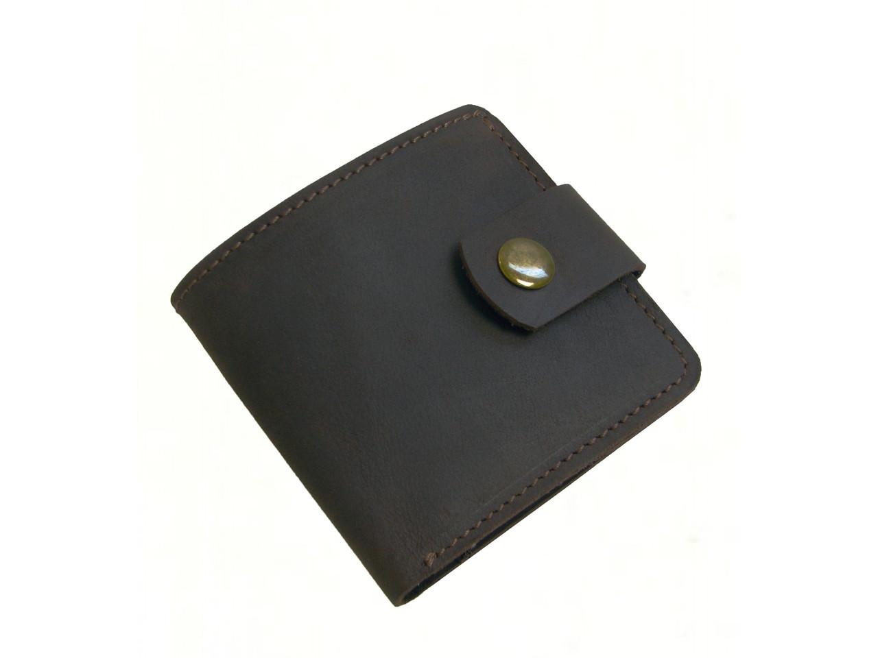 Мужской кошелек бумажник GS кожаный коричневый