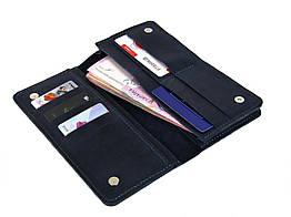 Мужской кошелек - клатч GS кожаный синий