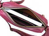 Женская повседневная сумка GS кожаная бордовая, фото 3
