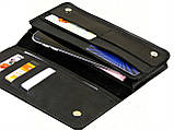 Мужской кошелек - клатч GS кожаный черный, фото 2