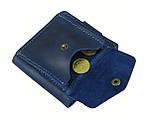 Мужской кожаный кошелек бумажник GS синий, фото 4