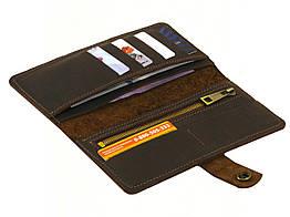 Мужской кошелек пормоне GS кожаный коричневый