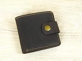 Женский кошелек бумажник GS кожаный  коричневый