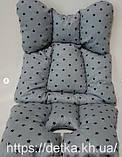 Матрас  для детской коляски, автокресла, 4 расцветки, фото 3