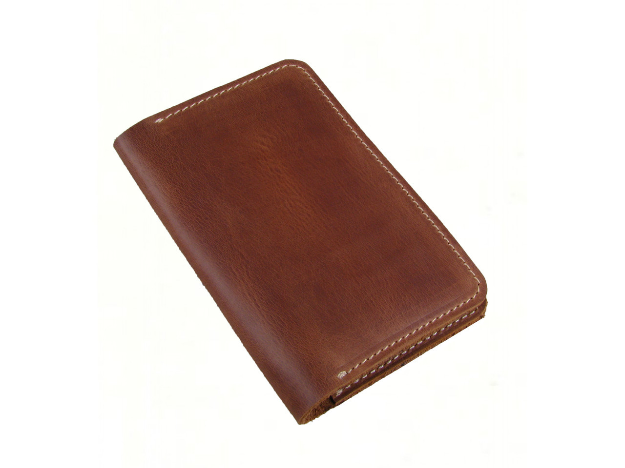 Обложка для паспорта GS кожаная рыжая