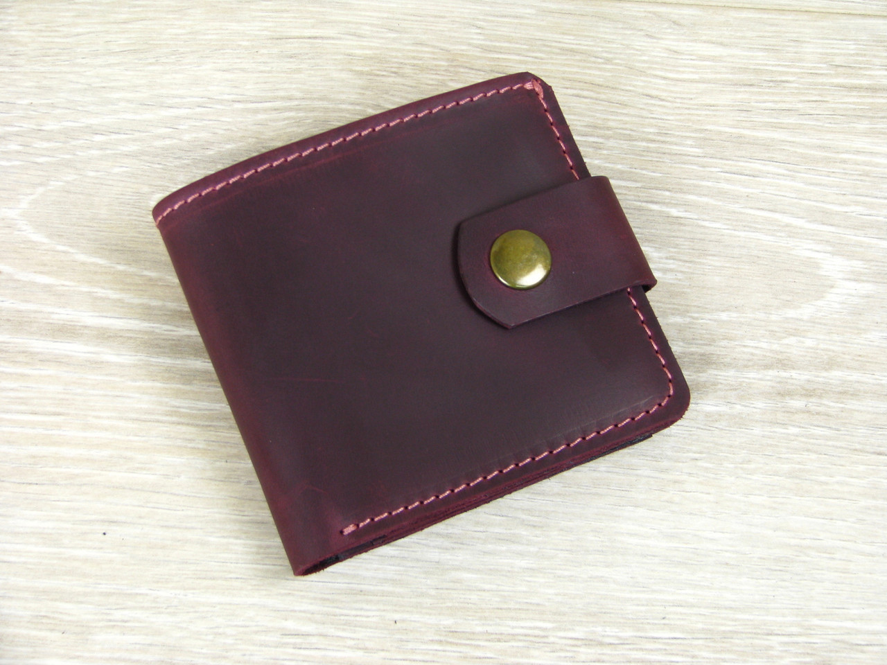 Женский кошелек бумажник GS кожаный бордовый
