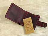 Женский кошелек бумажник GS кожаный бордовый, фото 2