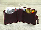 Женский кошелек бумажник GS кожаный бордовый, фото 3