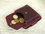 Женский кошелек бумажник GS кожаный бордовый, фото 5