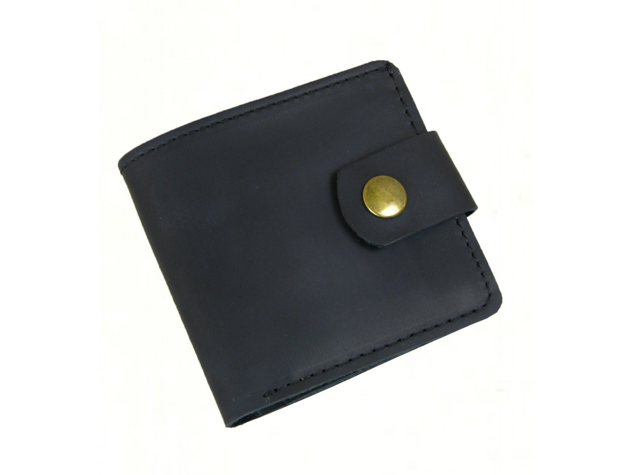 Мужской кошелек бумажник GS кожаный черный