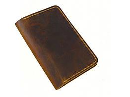 Обкладинка для паспорта GS шкіряна колір тютюн