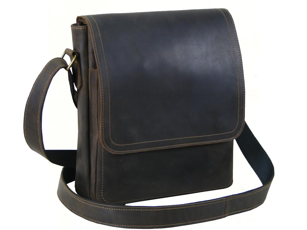 Вместительная мужская сумка GS коричневая