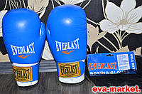 Боксерские перчатки Everlast кожа на 12 ункций