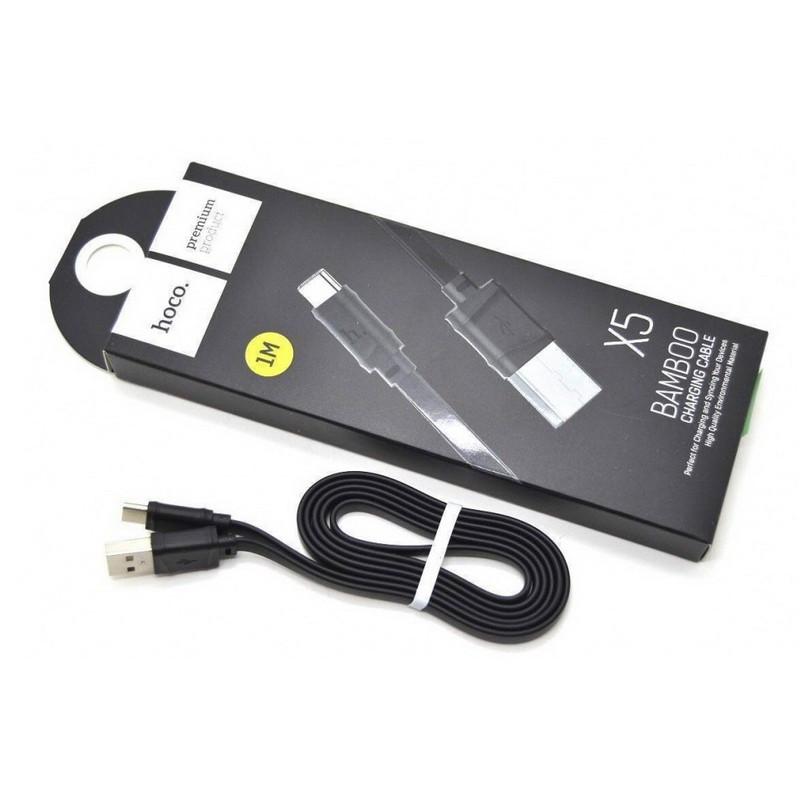 Кабель Lightning 1м Hoco X5 Bamboo для зарядки и передачи данных (X5-i)