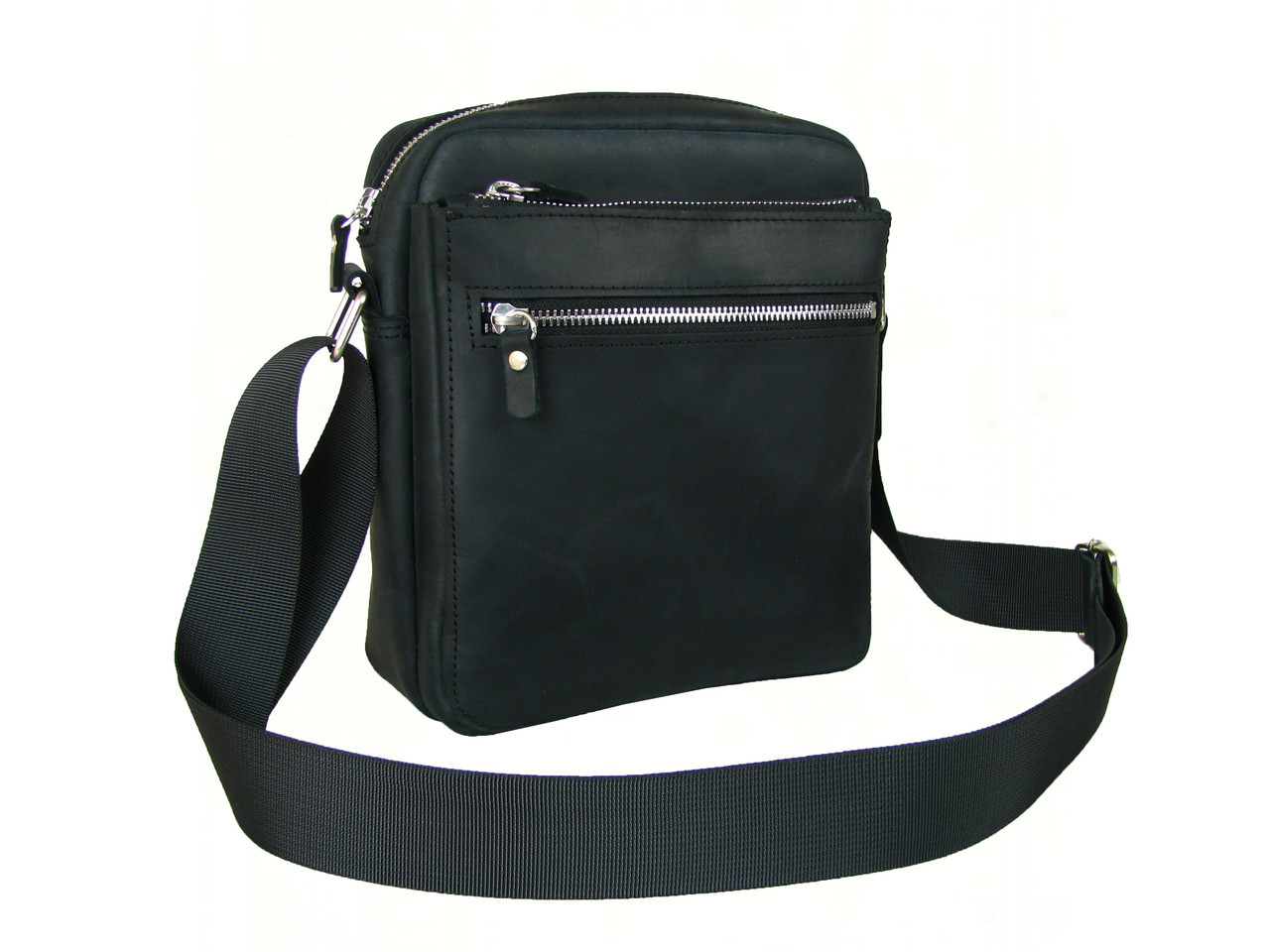 Кожаная сумка мужская GS черная