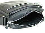 Кожаная сумка мужская GS черная, фото 3