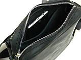 Кожаная сумка мужская GS черная, фото 4