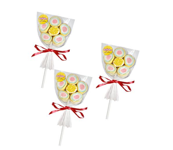 """Зефир жевательный декорированный посыпкой """"Confectum Marshmallow pops"""", в форме цветка"""