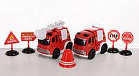 Игрушечный набор машинок для пожарного ( инерционного типа)