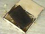 Кожаный зажим для денег GS синего цвета, фото 4