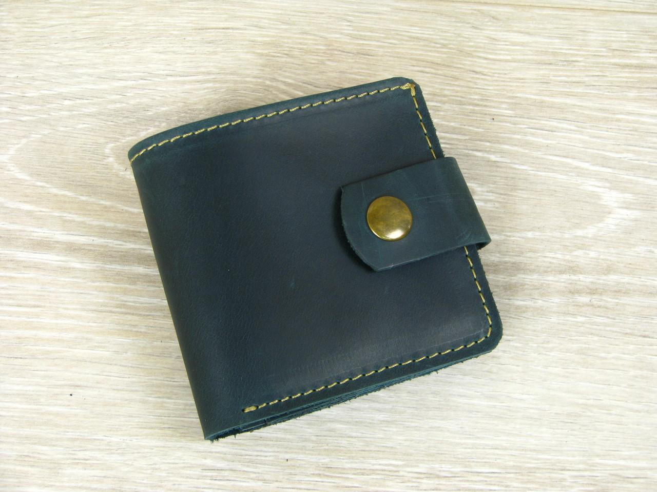 Женский кожаный кошелек бумажник GS зеленый