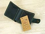 Женский кожаный кошелек бумажник GS зеленый, фото 2