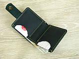 Женский кожаный кошелек бумажник GS зеленый, фото 3