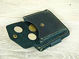 Женский кожаный кошелек бумажник GS зеленый, фото 5