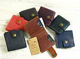 Женский кожаный кошелек бумажник GS зеленый, фото 7