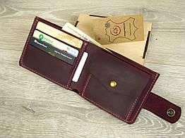 Кожаное женское портмоне GS бордового цвета