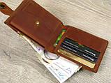 Кожаное женское портмоне GS коньячного цвета, фото 2