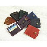 Кожаное женское портмоне GS коньячного цвета, фото 6
