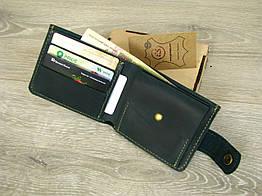 Кожаное женское портмоне GS зеленого цвета