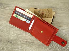 Кожаное женское портмоне GS красного цвета
