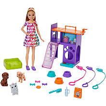 Игровой набор Кукла Барби Стейси со щенками