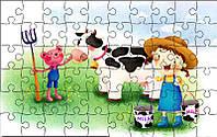 Пазл детский Веселая ферма 180х270 мм