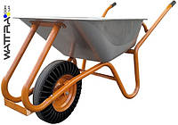 ⭐ Тачка строительная WB9618K BUDFIX каучуковое колесо, объем вода / песок 90/170 л, грузопод-ть 160 кг