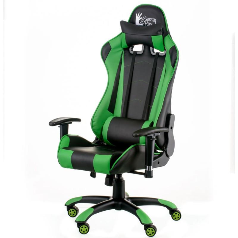 Крісло офісне Special4You ExtremeRace black/green (E5623)