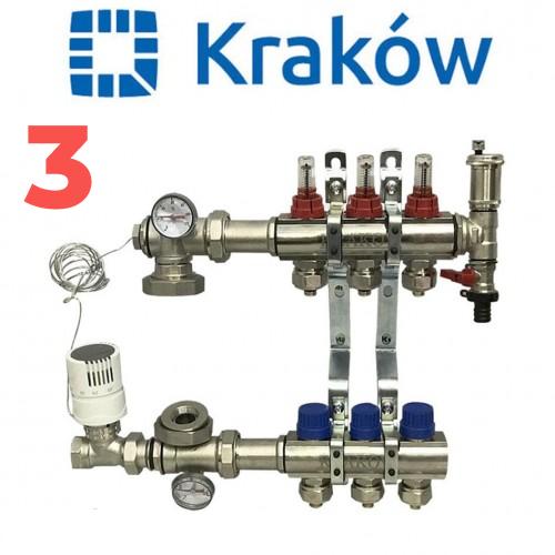 Коллектор для теплого пола KRAKOW на три контура