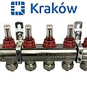 Коллектор для теплого пола KRAKOW на три контура, фото 3