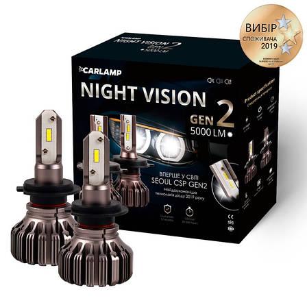 Світлодіодні автолампи H7 Carlamp Led Night Vision Gen2 5000 5500 Lm K (NVGH7), фото 2